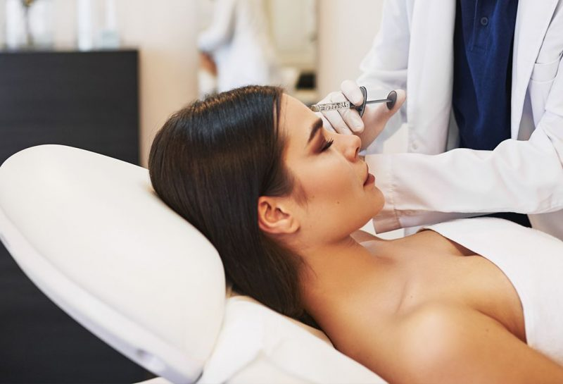 doctor doing botox injections
